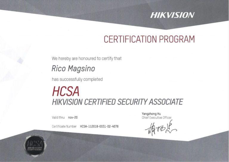HIKVision certificaat