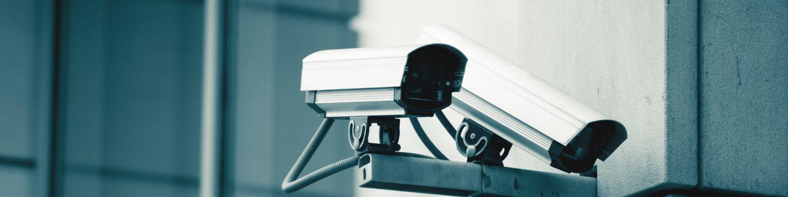 Surveillance cameras of a bank